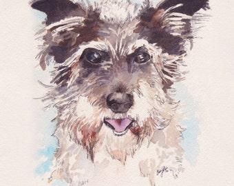 5x7 Custom Pet Portrait