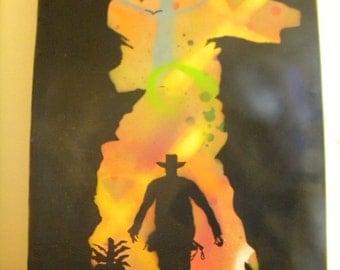 "Custom ""Outback"" Stencil Canvas"