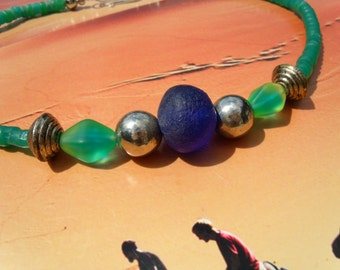 Old African of trade beads glass beads necklace