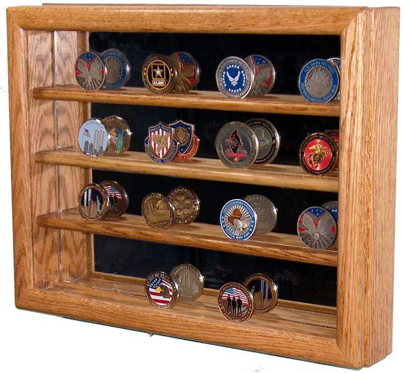 Military Challenge Coin Collector Case With Mirrored Back