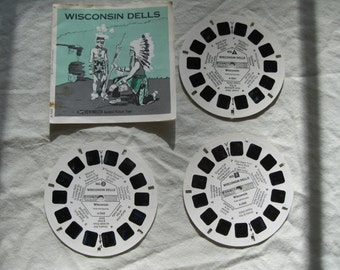 Wisconsin Dells, GAF Viewmaster A526, 3 reels and booklet.