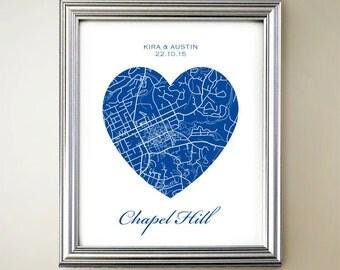 Chapel Hill Heart Map