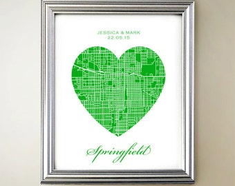 Springfield Heart Map