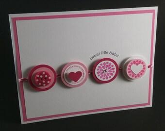 New Baby card, Baby Boy/Girl card