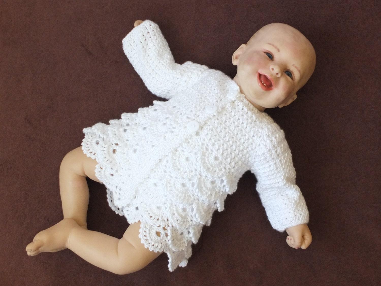 Free Crochet Pattern For Christening Cardigan ~ manet for .