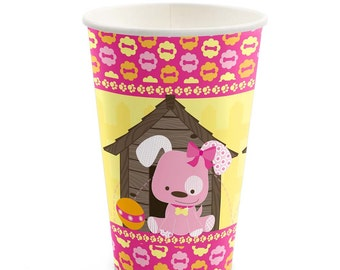 8 Count - Girl Puppy Dog - Hot/Cold Cups - Baby Shower or Birthday Party Supplies