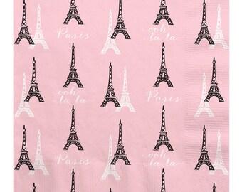 16 Count - Paris, Ooh La La Luncheon Napkin - Baby Shower or Birthday Party Supplies