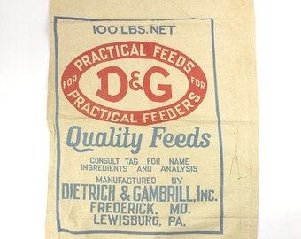 Vintage Feed sack Dietrich & Gambrill