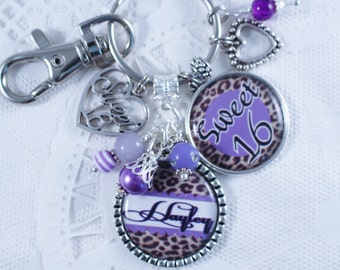 Personalized Sweet 16 Gift, Sweet 16 Gift, Gift for Sweet 16, Sweet 16, Sweet Sixteen, Sweet 16 Jewelry, Sweet 16 Key Chain, Per
