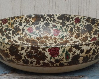 Vintage Japan Paper Mache Decorative Bowl!