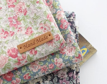 Little Rose Pattern Cotton Fabric by Yard - 3 Colors Selection C85080