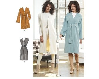 Simplicity Sewing Pattern 8217 Misses' and Miss Petite Lined Coat or Vest