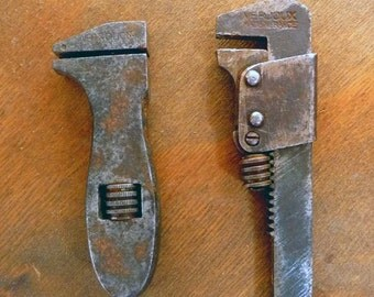 lot of two small adjustable wrenches