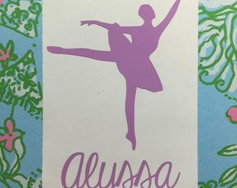 Ballerina Dancer Decal