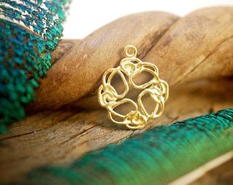 Celtic Knot Charm ~ Gold