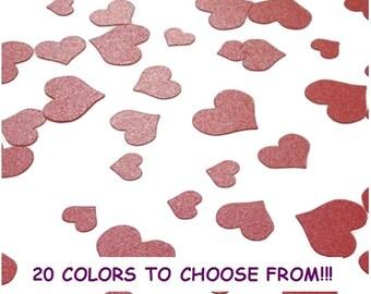 Glitter heart confetti, Party confetti hearts, Confeti, Wedding confetti bags, Table Confetti, Paper Confetti, Choose from 20 colors