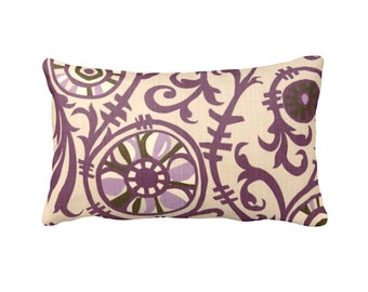 7 Sizes Available: Purple Pillow Cover Suzani Pillow Brown Pillow Plum Pillow Decorative Throw Pillow Decorative Pillow Lavender Pillow