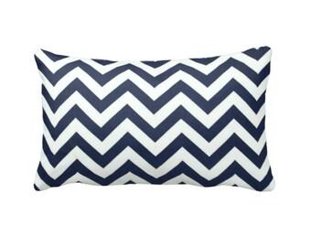 Navy Blue Pillow Cover Navy Throw Pillow Cover Navy Pillow Navy Chevron Pillows Decorative Pillows for Chair Blue Lumbar Pillows Toss Pillow