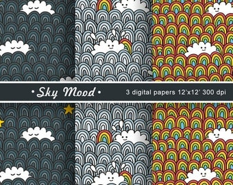 "Digital paper pack ""Sky Mood"""
