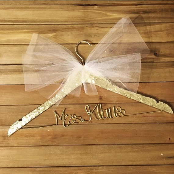 Glitter hangers wedding dress hanger sparkle by for Mrs hangers wedding dress