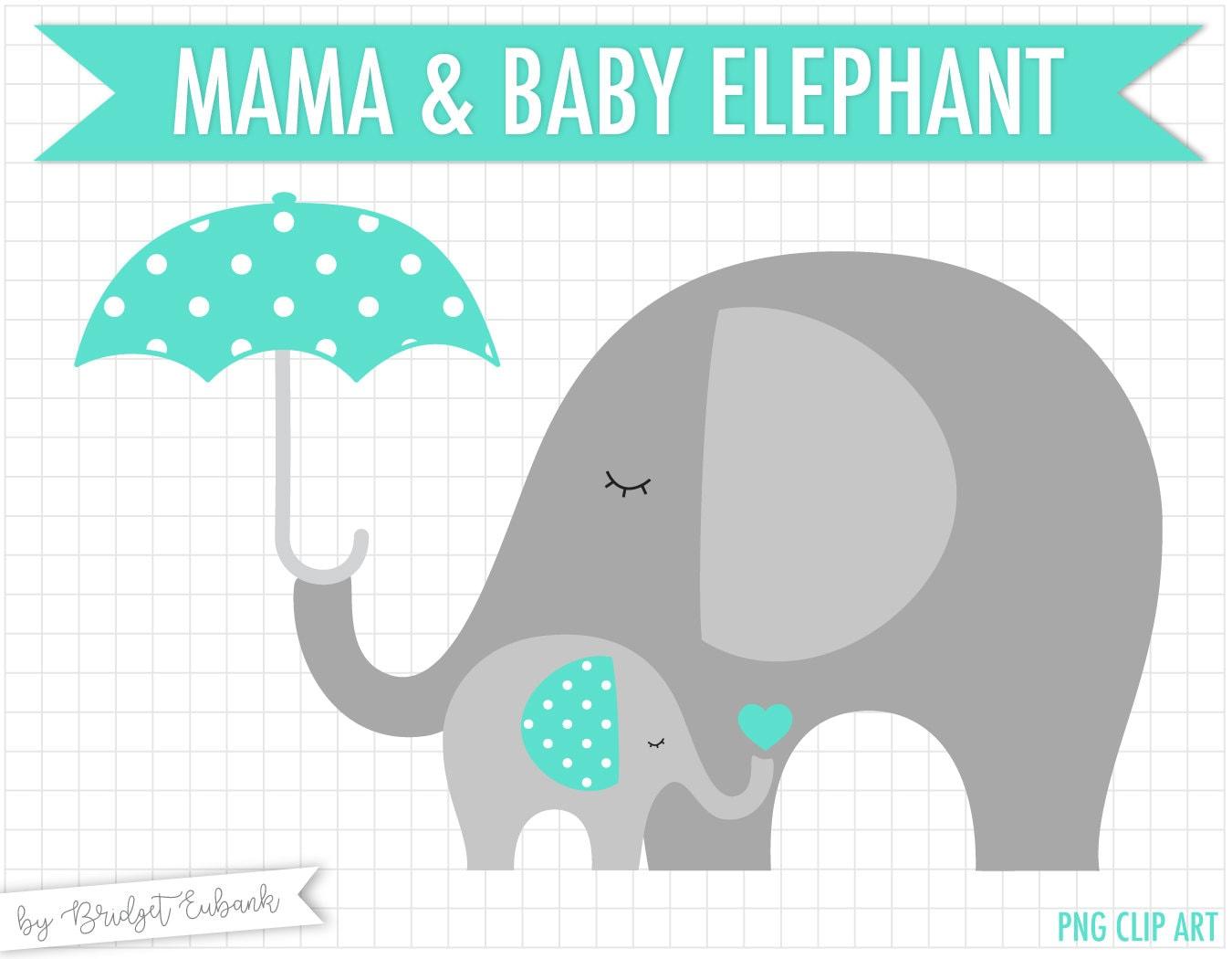 Baby elephant clip art baby shower