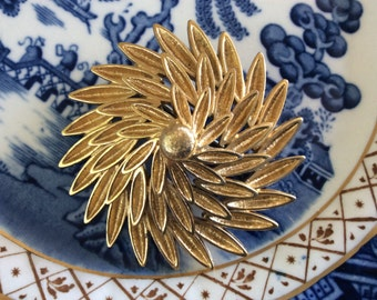 Vintage Monet Flower Brooch