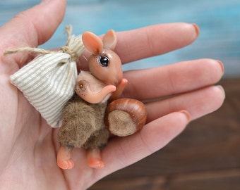 SALE! The Little Rabbit. Baby in a wooden box. BJD.  Ready to ship!