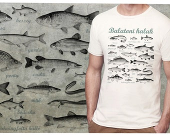 fishes of Balaton  - man T-shirt - S-2XL