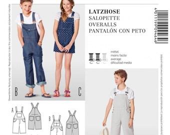 Burda Pattern 9464 Children's Overalls