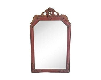 Neoclassical Rustic Wood & Gesso Mirror