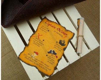 Pirate Invitations, Treasure Map Invitations, Pirate Party, Party Invitations, Fabric Party Invites, Pirate Treasure Map, Pirate Scroll