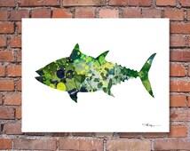 Tuna Art Print - Abstract Watercolor Painting - Wall Decor