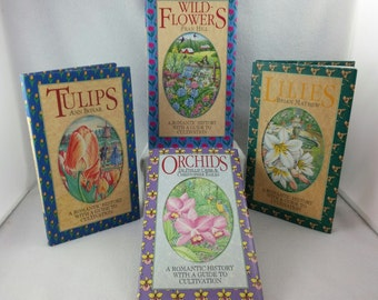 Collection of Four Books about Flowers and Gardening