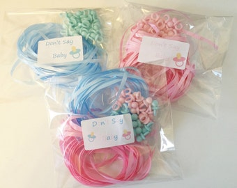 Dont Say Baby 20 Player Baby Shower Game Pink or Blue Dummies  Pacifier
