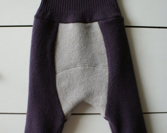 M size upcycled wool bloomers, diaper cover, soaker, longies