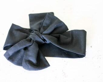 Baby headband; Rosie Wrap-headwrap; black fabric head wrap; newborn headband; baby headband; toddler headband; adult headband; girl hea