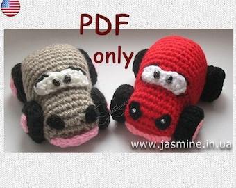 Crochet pattern - Funny car amigurumi toy (English)