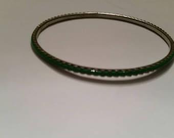 Green Bangle Bracelet Costume Jewelry