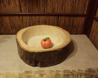 Vintage Natural Wood Bowl