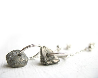 raw pyrite earrings pyrite dangle modern dangle sterling protection earrings natural stone earing stone earrings fools gold jewelry