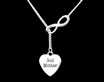 God Mother Infinity Christmas Gift Lariat Necklace