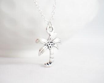 Beach Bum Necklace - Palm Tree Necklace - Hawaii Necklace - Hawaii gift - Palm Tree pendant