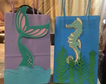 Mermaid favor bags.