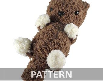PATTERN Fluffy Otter Baby Amigurumi Crochet Plush PDF