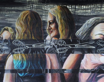 """Original Acrylic and Archival Ink Painting, """"If the Fates Allow""""."""