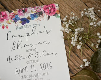 FLORAL|Couple's Shower Invitations #1