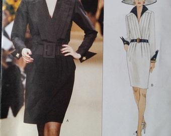 VOGUE 1581 Size 12-14 YSL Yves Saint Laurent Paris Original Couture Dress Sewing Pattern ~ Vintage ©1995 Uncut RARE