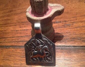 Old Indian Amulet, Bhumiya Raj Pendant, Rajasthan, India, Hindu Amulet, Rajasthan jewelry