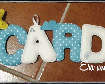 Felt Name Banner 5 letters * Baby's Room * Wall Decoration