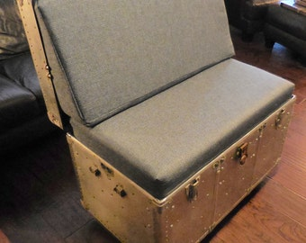 Steam Trunk Coffee Table/ Love seat
